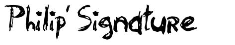 Philip' Signature шрифт