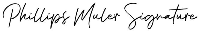 Phillips Muler Signature