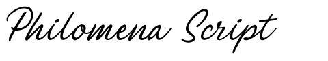 Philomena Script font