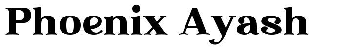 Phoenix Ayash schriftart