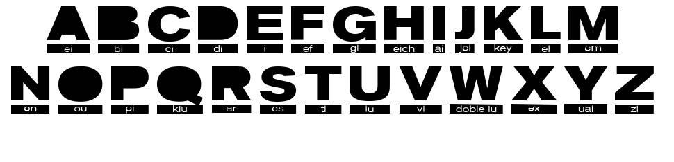 Phonetic font