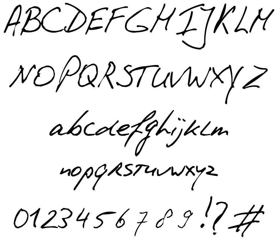 PhontPhreaks Handwriting Font By PhontPhreak