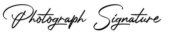 Photograph Signature font
