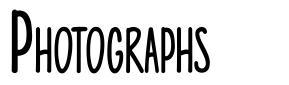 Photographs font