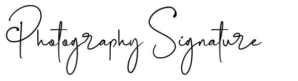 Photography Signature font