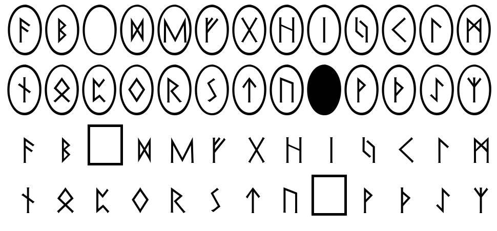 Pi Rho Runestones fonte