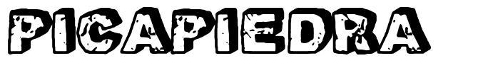 Picapiedra 字形
