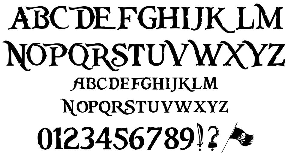 Pieces of Eight font by Steve Ferrera - FontRiver