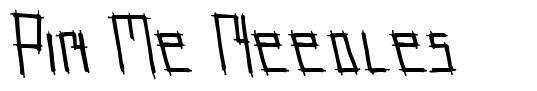 Pin Me Needles font