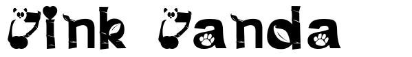 Pink Panda font