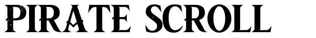 Pirate Scroll fonte