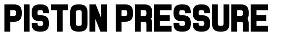 Piston Pressure font