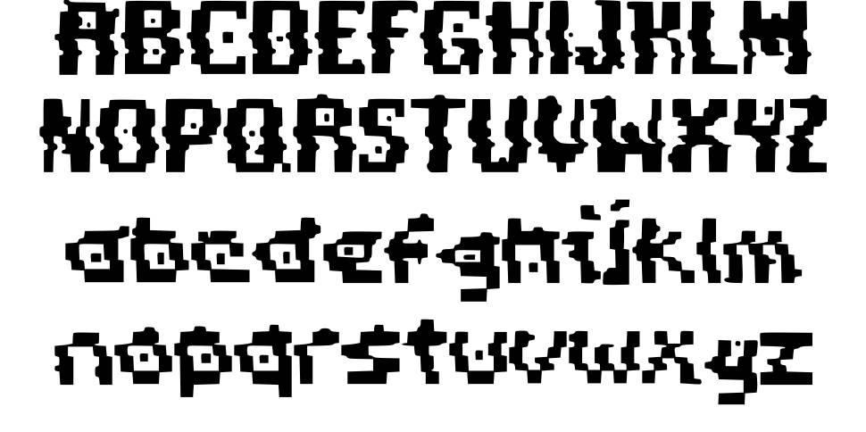Pixel Distortion font
