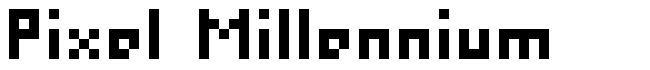 Pixel Millennium font
