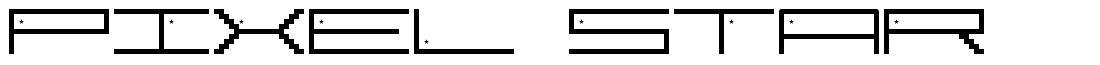 Pixel Star font