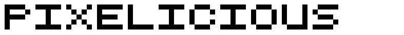 Pixelicious шрифт