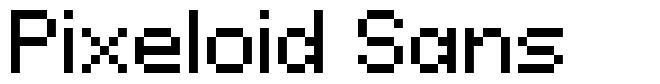 Pixeloid Sans font