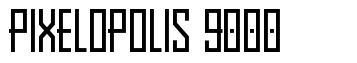 Pixelopolis 9000 fonte