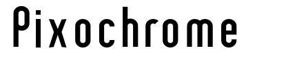 Pixochrome font