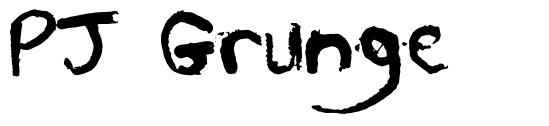 PJ Grunge шрифт