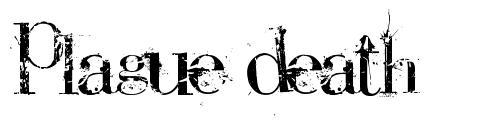 Plague Death font