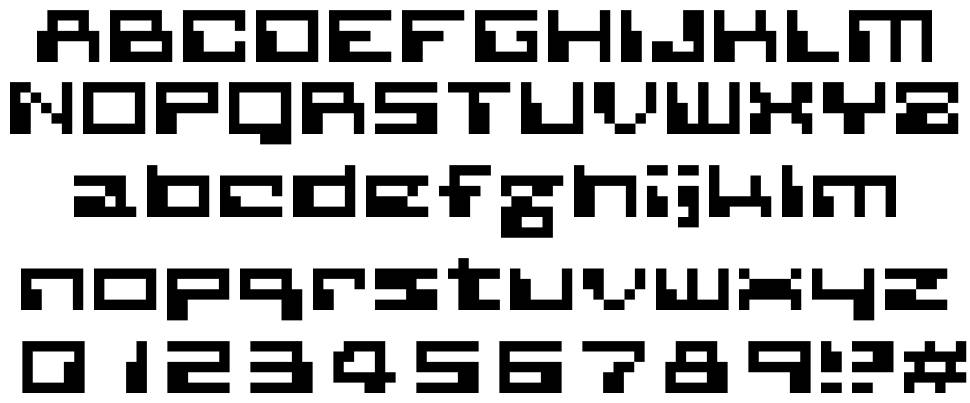 Planetary Contact font