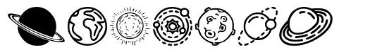 Planets font
