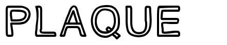 PLAQUE шрифт