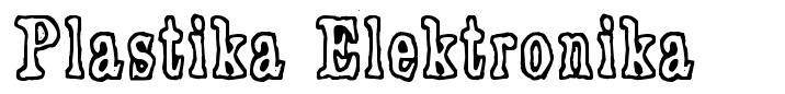 Plastika Elektronika font