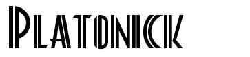 Platonick шрифт