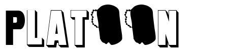 Platoon font