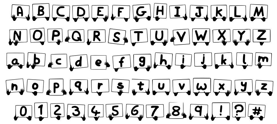 Play Sign font