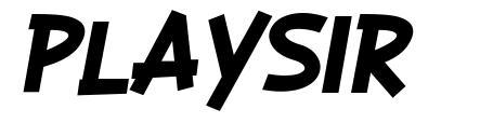 Playsir font