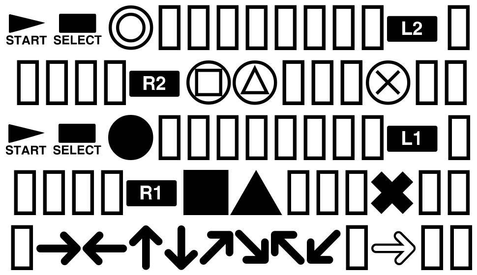 PlayStation Buttons font