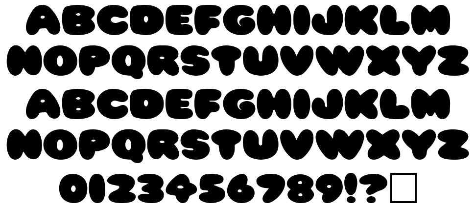 Pleasantly Plump font