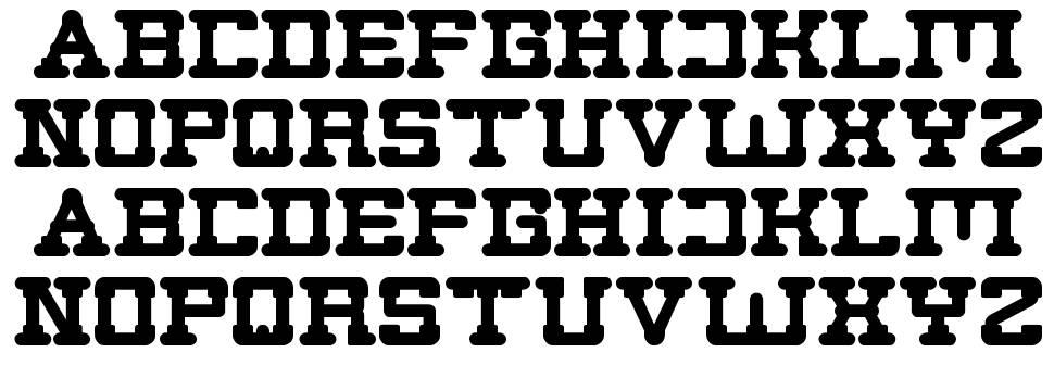 Plumbing font