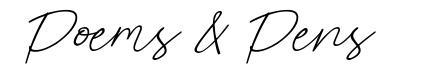 Poems & Pens font