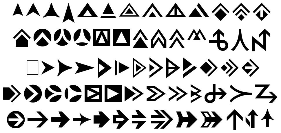 Pointers font