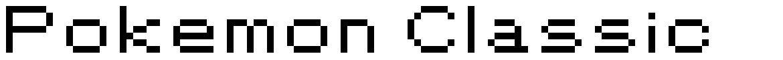 Pokemon Classic font
