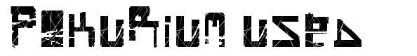 Pokurium Used font
