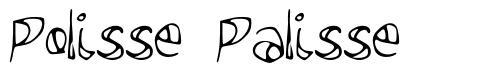 Polisse Palisse шрифт