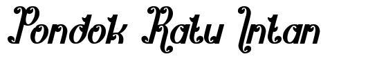 Pondok Ratu Intan шрифт