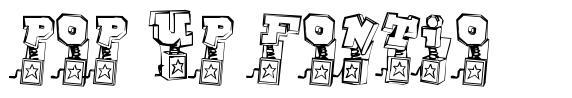Pop Up Fontio font