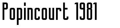 Popincourt 1981 フォント
