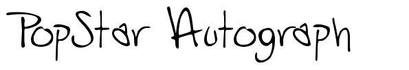 PopStar Autograph font