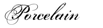 Porcelain písmo