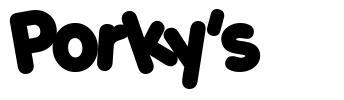 Porky's 字形
