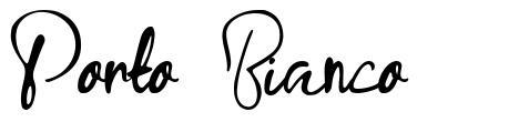 Porto Bianco písmo