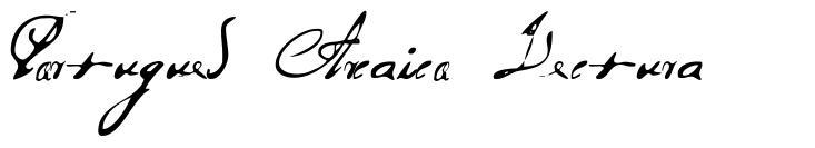 Portugues Arcaico Lectura font