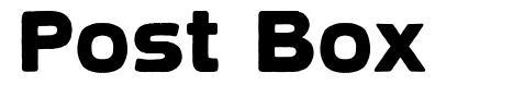 Post Box font